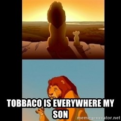 Lion King Shadowy Place - Tobbaco is everywhere MY SON