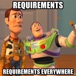 Consequences Toy Story - Requirements Requirements EVERYWHERE