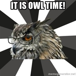 ITCS Owl - It is OWL Time!