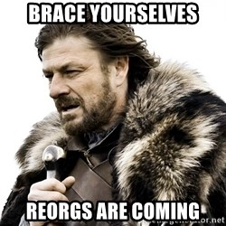 Brace yourself - BRACE YOURSELVES REORGS ARE COMING