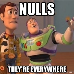 Buzz Lightyear meme - nulls they're everywhere