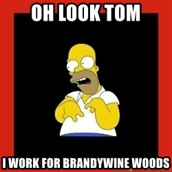 Homer retard - Oh look tom I work for brandywine woods