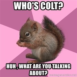 Shipper Squirrel - Who's Colt? HUH , What are you talking about?