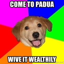 Advice Dog - CoME TO PADUA WIVE IT WEALTHILY