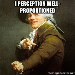 Ducreux - I perception well-proportioned