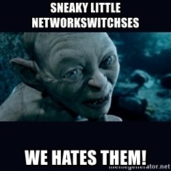 gollum - Sneaky little NETWORKSWITCHSES We hates them!