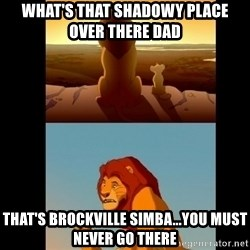 Lion King Shadowy Place - What's that shadowy place over there dad That's brockville simba...you must never go there