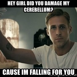 ryan gosling hey girl - Hey girl Did you damage my cerebEllum? Cause im falling for you