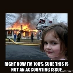burning house girl - Right now i'm 100% sure this is not an accounting issue