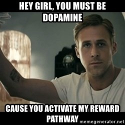 ryan gosling hey girl - Hey girl, you must be dopamine cause you activate my reward pathway
