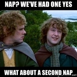 What about second breakfast? - nap? We've had one yes what about a second nap