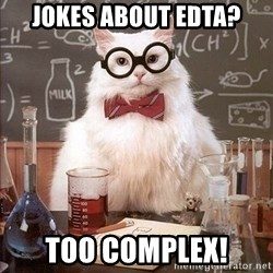 Chemistry Cat - jokes about EDTA? too complex!