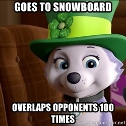 Good Luck Everest  - Goes to snowboard Overlaps oppOnents 100 times