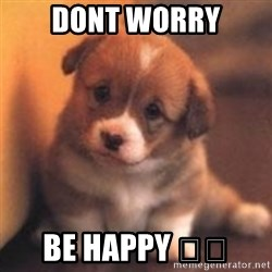 cute puppy - Dont worry Be happy 💕💕