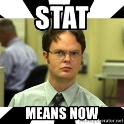 Dwight from the Office - Stat means now