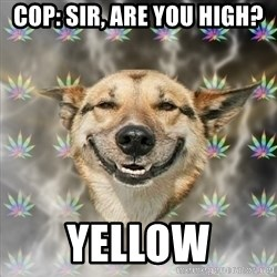 Stoner Dog - Cop: Sir, are you high? yellow