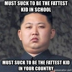 Kim Jong-Fun - Must suck to be the fattest kid in school Must suck to be the fattest kid in your country