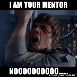 Luke skywalker nooooooo - i am your mentor nooooooooòo......