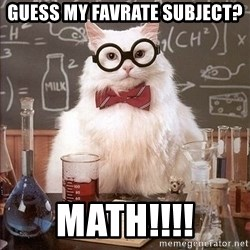 Chemistry Cat - Guess my favrate SUBject? Math!!!!