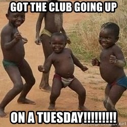 Dancing african boy - got the club going up on a tuesday!!!!!!!!!