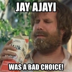 Milk was a bad choice - Jay Ajayi Was a bad chOice!