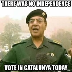 Iraqi Information Minister - THERE WAS NO INDEPENDENCE vote in catalunya today