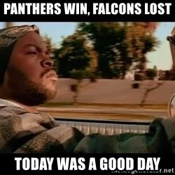 IceCube It was a good day - Panthers Win, Falcons lost Today was a good day