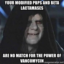 Sith Lord - Your modified PBPs and Beta lactamases  are no match for the power of Vancomycin