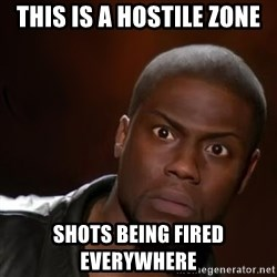 kevin hart nigga - This is a hostile zone Shots being fired EVERYWHERE