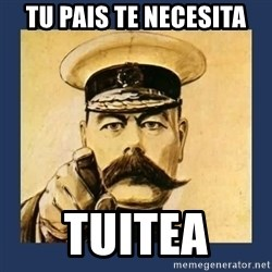 your country needs you - tU pais te necesita tuitea