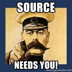 your country needs you - Source needs you!