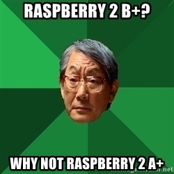 High Expectations Asian Father - Raspberry 2 B+? Why not raspberry 2 A+