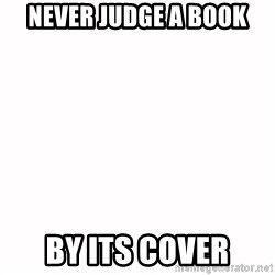 fondo blanco white background - never judge a book by its cover