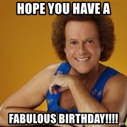 Gay Richard Simmons - HOPE YOU HAVE A FABULOUS BIRTHDAY!!!!
