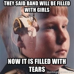 PTSD Clarinet Boy - They said band will be filled with girls  Now it is filled with tears