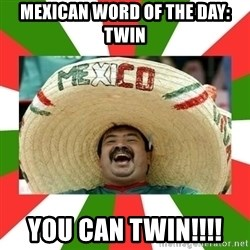 Sombrero Mexican - mexican word of the day: twin you can twin!!!!