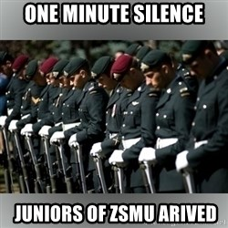 Moment Of Silence - One minute silence  juniors of ZSMU ARIVED