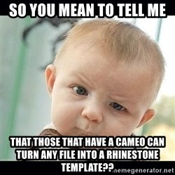 Skeptical Baby Whaa? - So you mean to tell me  That those that have a cameo can turn any file into a rhinestone template??