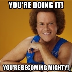 Gay Richard Simmons - You're Doing IT! You're Becoming Mighty!