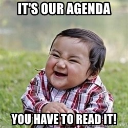 Niño Malvado - Evil Toddler - It's our agenda you have to read it!