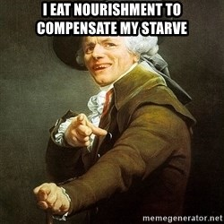 Ducreux - I eat nourishment to compensate my starve