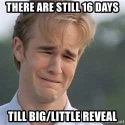Dawson's Creek - There aRe stIll 16 days Till big/little reveal