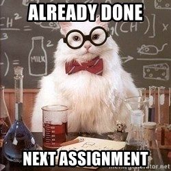 Chemistry Cat - ALREADY DONE NEXT ASSIGNMENT