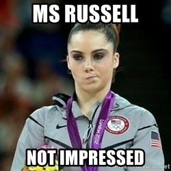 Not Impressed McKayla - ms russell Not impressed
