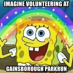 Spongebob - Nobody Cares! - Imagine Volunteering at Gainsborough parkrun