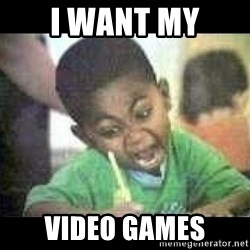 Black kid coloring - I Want My Video games