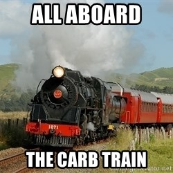 Success Train - all aboard  the carb train