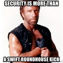 Chuck Norris Meme - Security is more than a Swift RoundHouse Kick