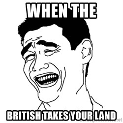 Asian Troll Face - When the British takes your land