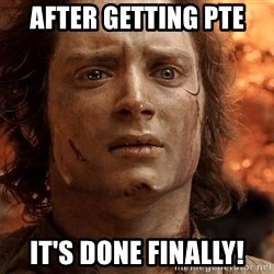 Frodo  - After getting pte It's done Finally!